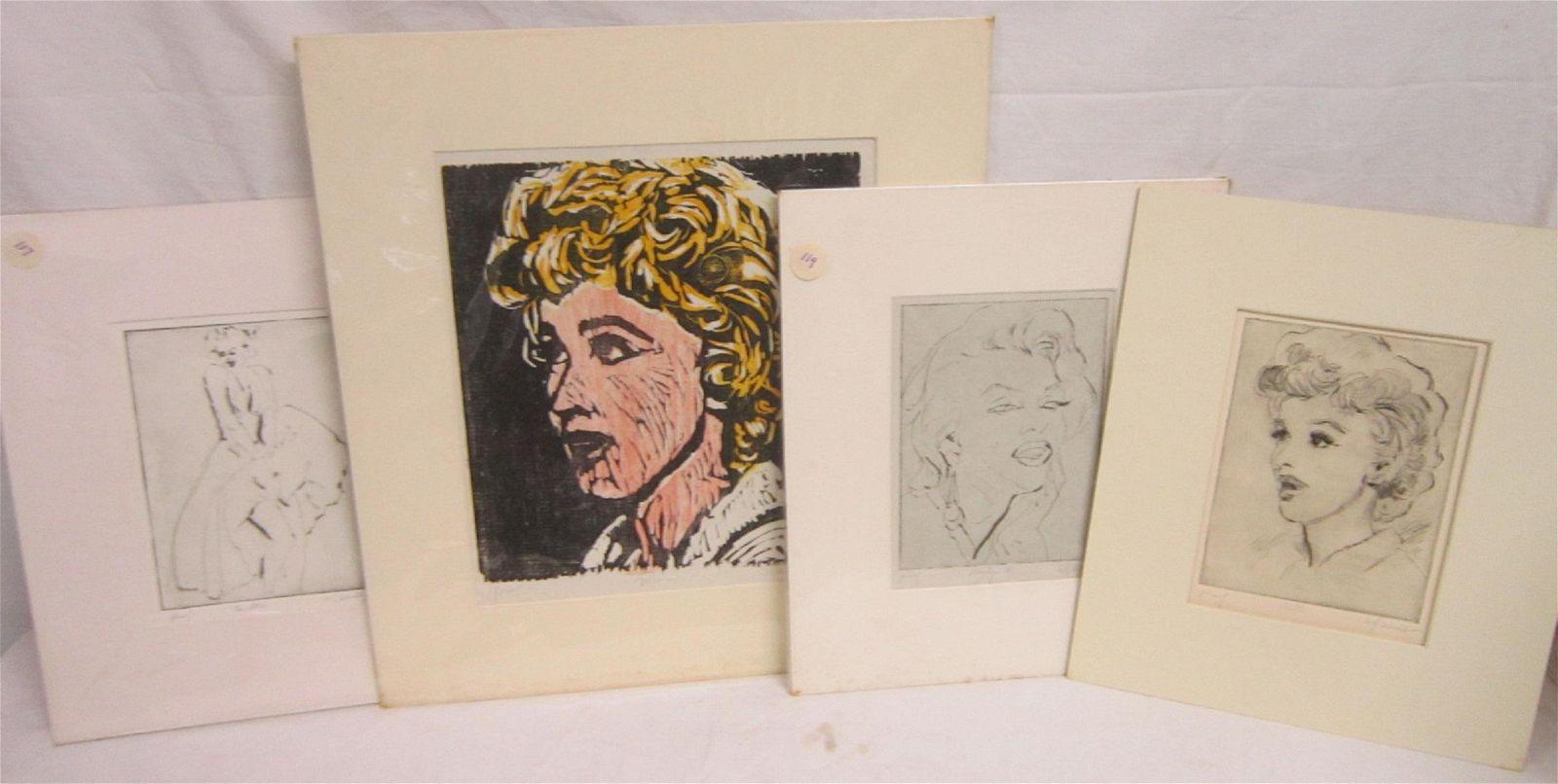 4 William Wendt Marilyn Monroe Prints