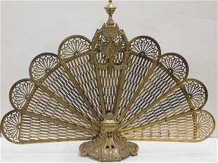 Brass Fireplace Fan Screen
