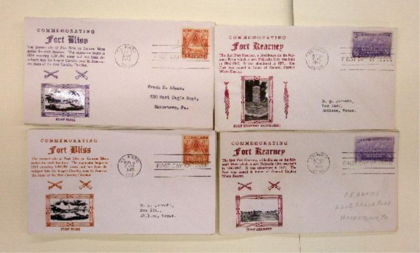 Fort Bliss & Fort Kearney First Day Covers
