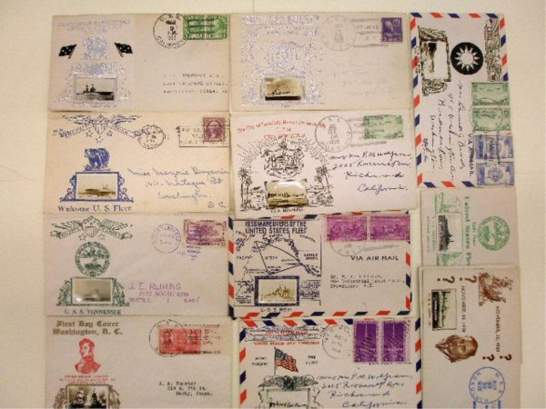 United States Navy First Day & Air Mail Covers