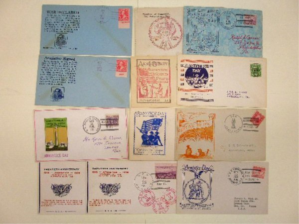 War Declared & Armistice Day First Day Covers