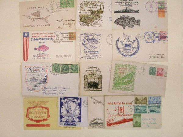United States Navy Submarine First Day Covers