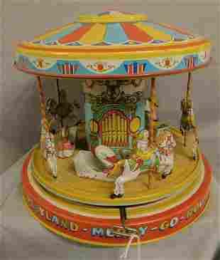 "J. Chein Playland Merry - Go - Round"" Toy"