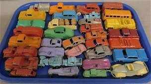 35 Cast Metal Tootsie Toy Vehicles