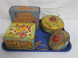Vintage Tin Litho & Other Toys