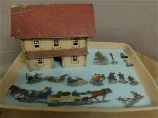 Flat Lead Figures & Wood Meeting House