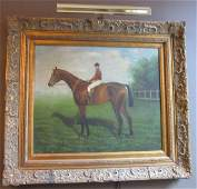 20th American Impressionist Equestrian painting