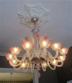 Spectacular Venetian Glass Chandelier