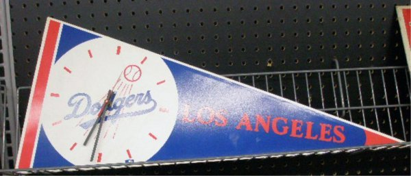 1107: Los Angeles Dodgers Pennant Wall Clock