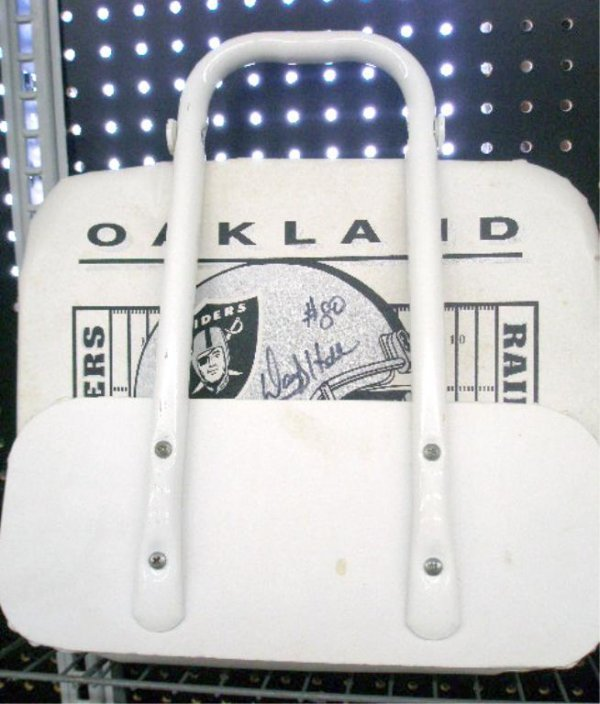 1111: Oakland Raiders Signed Seat
