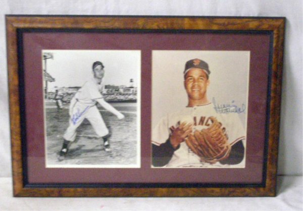 1113: Bob Lemon & Juan Marichal Signed Photos
