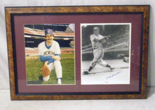 1114: Rollie Fingers & Billy Herman Signed Photos