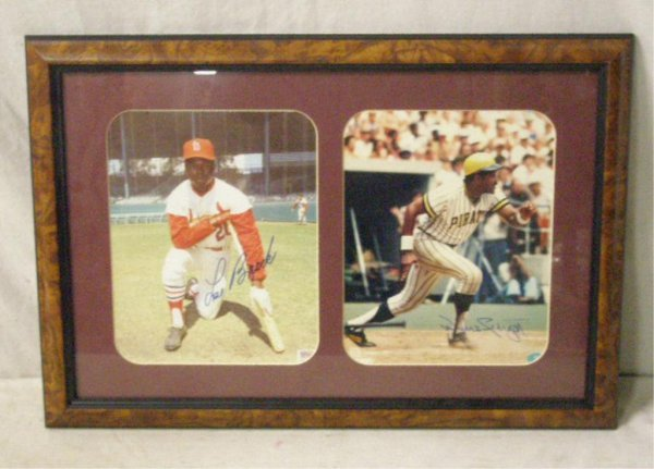 1115: Lou Brock & Willie Stargell Signed Photos