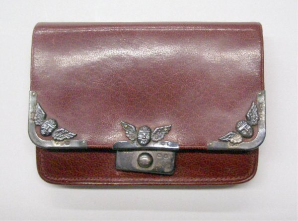 2013: English Silver Mounted Leather Wallet