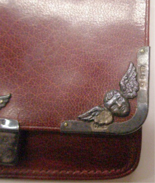 2013: English Silver Mounted Leather Wallet - 4