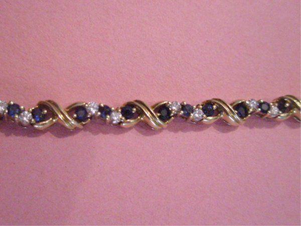 2167: 18K Diamond & Sapphire Bracelet