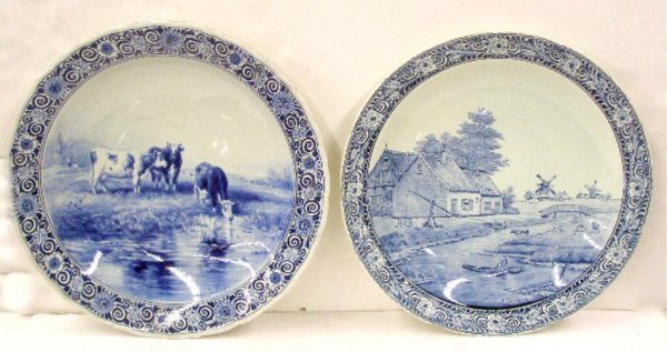 2331: Delft Pottery Wall Chargers
