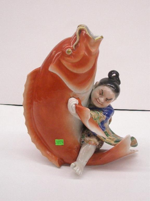 1009: Japanese Porcelain Figural Vase