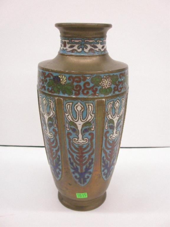 1015: Chinese Champleve & Bronze Vase