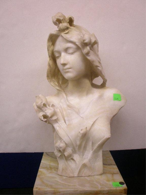 1359: White Marble Bust of a Young Woman