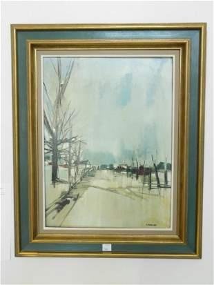 Framed G. Maquqrd oil on canvas