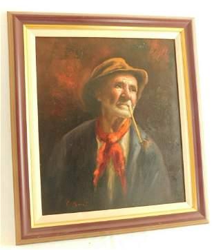 Framed Cellani? Oil on Canvas