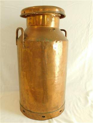 Large Copper Milk Can