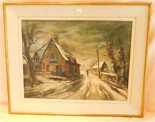 Framed Malvel Oil on Canvas
