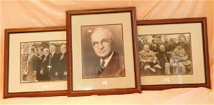 4 Framed Historical Figure Sepia Photos