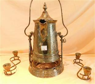 Victorian Ice Water Pitcher on Stand