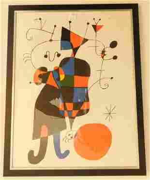 Framed J. Miro Print