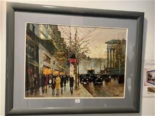 Framed Hasz Oil on Canvas