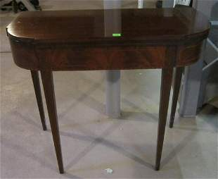 Federal Style Hepplewhite Game Table