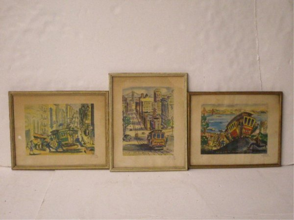 1001A: Ted Lewy Signed Cable Car Prints