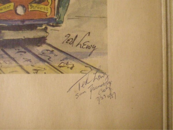1001A: Ted Lewy Signed Cable Car Prints - 5