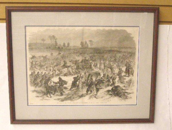 1006: 1885 Civil War Steel Engraved Print