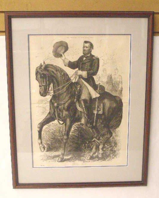 1007: 1885 Civil War Steel Engraved Print