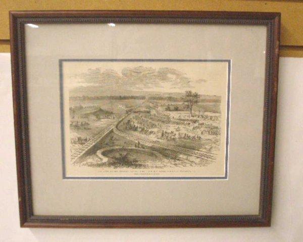 1008: 1884 Civil War Steel Engraved Print