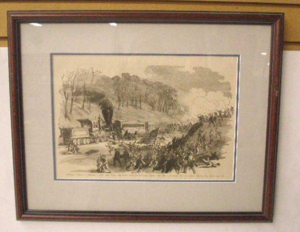1009: 1884 Civil War Steel Engraved Print