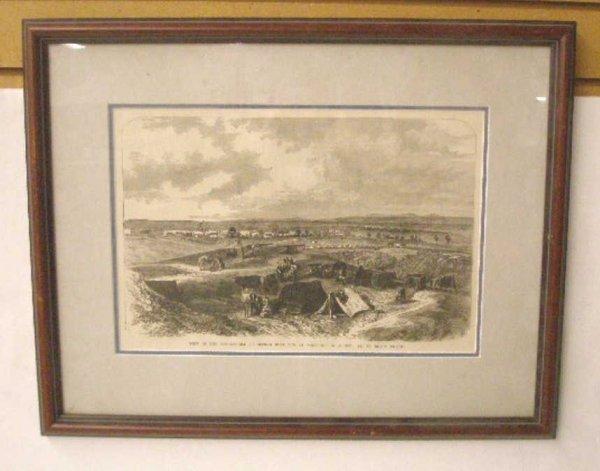 1010: 1884 Civil War Steel Engraved Print