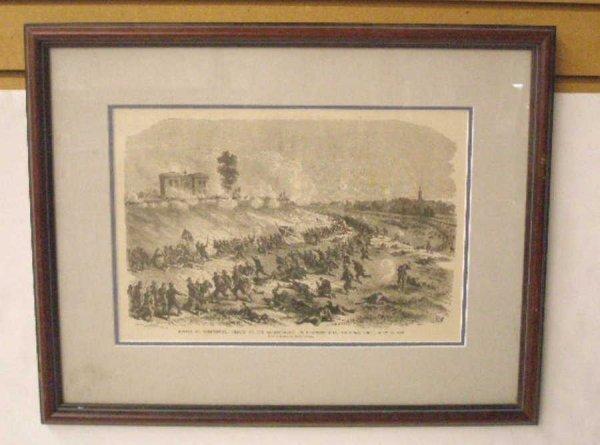 1011: 1885 Civil War Steel Engraved Print
