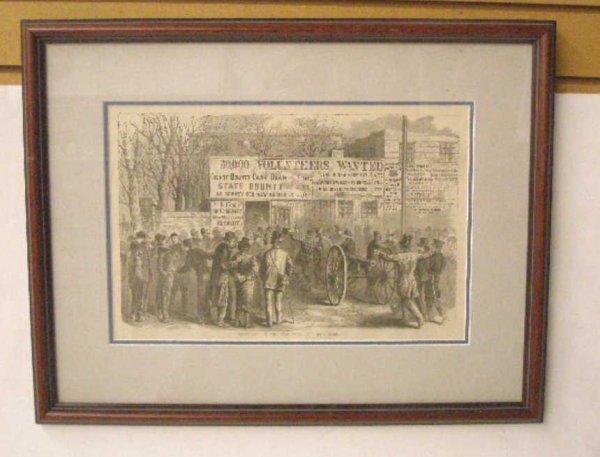 1013: 1884 Civil War Steel Engraved Print