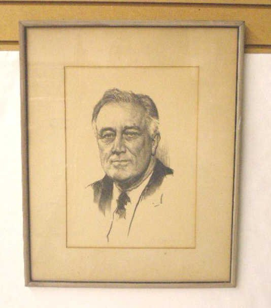 1016: 1940's F.D.R. Lithograph Print