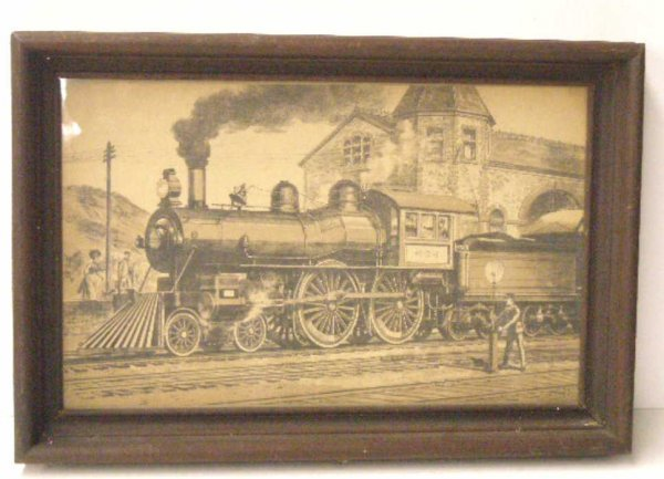 1017: 19th c. Train Print