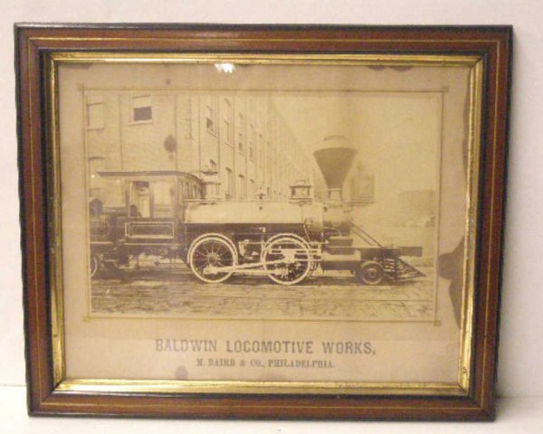 1019: 19th c. Baldwin Locomotive Train Print