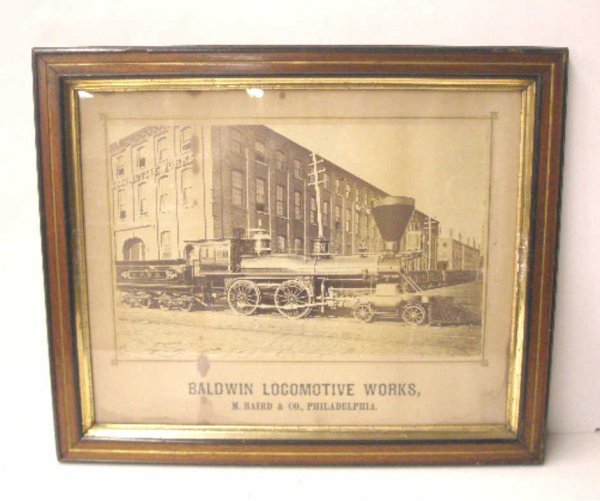 1020: 19th c. Baldwin Locomotive Train Print