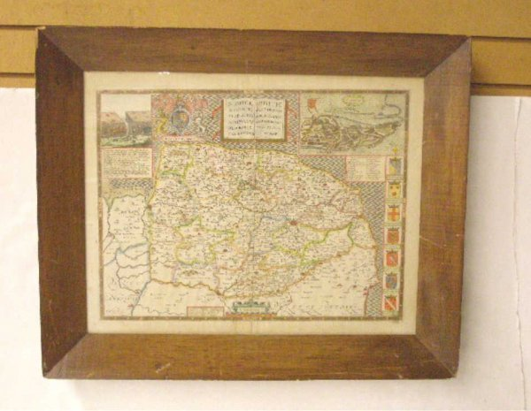 1023: 1610-1676 John Speed Hand Colored Map