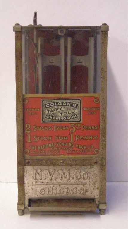 1063: 1905 Colgan's Chewing Gum Vending Machine