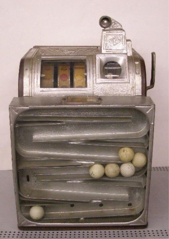 1067: 1937 Jennings Golf Ball Vendor Slot Machine