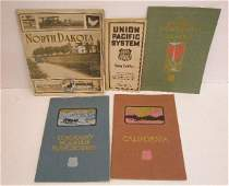 1355 Early 20th c Railroad Timetable  Travel Books